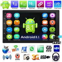 "7""Touch 2Din Android 8.1 Car Stereo MP5 Player GPS Navi WiFi USB FM/AM Radio+Cam"