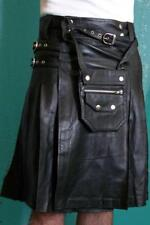 Mans Real Leather Kilt with Sporran Utility Workwear Most Sizes