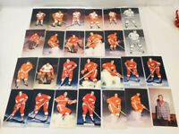 Vintage JD McCarthy Detroit Red Wings NHL Post Card Lot of 26 Cards 1970s