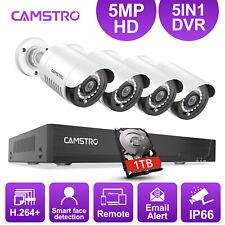 1Tb 5Mp Hd Video Security Camera 4Ch Dvr Cctv Night Ip66 Surveillance System Us
