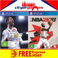 Fifa 18 Inc Bonus DLC & NBA 2K18 Bonus DLC PS4 Bundle New & Sealed Free Express