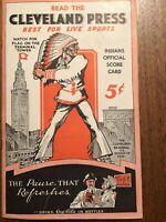 Vintage 1934 Cleveland Indians Unscored Scorecard Cleveland Press Trosky Coke
