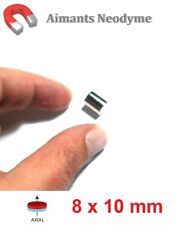 Lot aimant cylindre 8X10mm Très Puissant Neodyme N35 : Fixation, Magnet, Fimo...