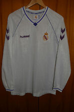 REAL MADRID SPAIN 1990/1991 HOME FOOTBALL SHIRT CAMISETA JERSEY HUMMEL VINTAGE