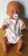 Zapf Creation Baby Born Doll Original Drink Wet Tagged Clothes Pacifier Blue Eye
