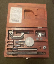 Vintage Machinist Tools Lufkin Dial Indicator Kit 399a 299a Withwooden Box Nice