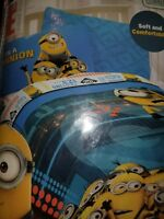 Despicable Me Minions Twin Bedding Sheet set & Comforter NEW 4 pcs total