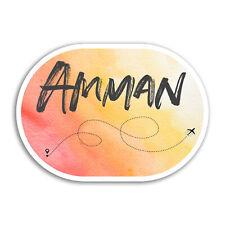 2 x 10cm Amman Vinyl Stickers - Jordan Travel Cool Sticker Luggage Laptop #18002