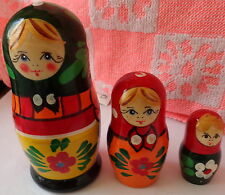 Superb Russian Nesting Doll 3 Pcs Large 4.2* #4S