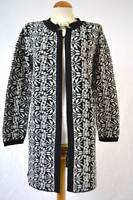 Per Una M&S long black and ivory soft winter cardigan NEW S M L marks spencer