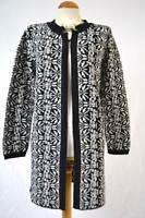 Per Una M&S long black and cream soft winter cardigan NEW S M L