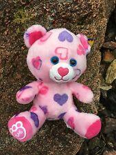 "Build a Bear Buddies 8"" Pink Hearts & Hugs Plush Bear - New"
