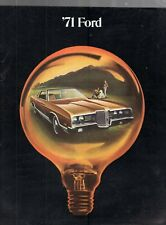1971 FORD GALAXIE 500-LTD-CUSTOM-WAGON DEALER SALES BROCHURE BOOKLET-20 PAGES