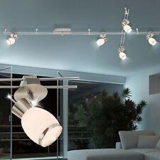 Design LED Chrom Glas Decken Lampe Spot Strahler Schienen System Ess Zimmer 5x5W