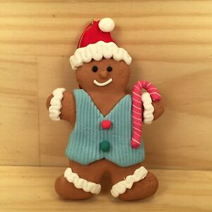 "GINGERBREAD MAN ""Blue"" Gorgeous Christmas Tree Decoration Hanging Ornament"