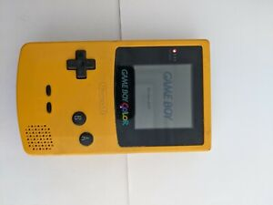 Nintendo Game Boy Yellow Handheld System BATTERY COVER MISSING