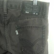 Levis 514 Dark Gray Denim Jeans Stain/Spot Mens 29x30