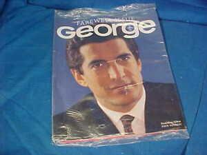 May 2001 GEORGE Magazine FAREWELL ISSUE w JOHN F KENNEDY Jr COVER Still SEALED