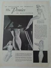 1937 womens Munsingwear skin fitted ponies girdle bra underwear vintage ad