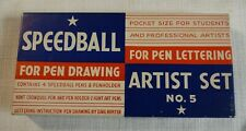 Speedball No. 5 Art Pen Set for Calligraphy and Illustration (Nos Vintage 1960s)