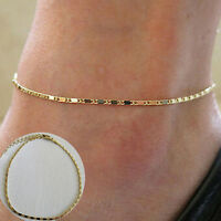 Simple Gold Chain Anklet Ankle Bracelet Barefoot Sandal Beach Foot Jewelry In LD