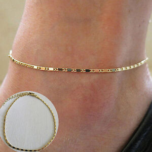 Women Gold Chain Anklet Ankle Bracelet Barefoot Sandal Beach Foot Jewelry CACA