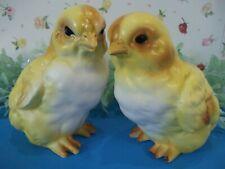 Lefton Vintage Easter Yellow Baby Chicks - Peeps,bright figurines~darling babies
