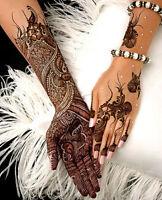 6 x Fresh Quality Natural Henna Mehndi Hand Made Tattoo Paste Pen Cones