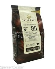 Callebaut Dark Belgian Chocolate Couverture 54.5% Callets 1kg Recipe No 811
