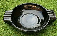 Vintage Black and Gold Guinness Glass Ashtray