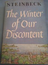 """1961 First Edition """"The Winter of Our Discontent"""" JOHN STEINBECK - w/DJ - BC Ed"""