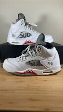 Jordan 5 Retro x Supreme White/ Fire Red/Black 2015