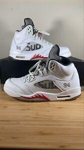 Jordan 5 Retro x Supreme White/ Fire Red/Black 2015