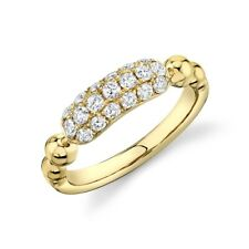 14K Yellow Gold Diamond Statement Ring Womens Cocktail Round Natural Right Hand
