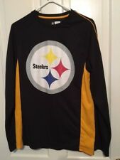 PITTSBURGH STEELERS SIZE MEDIUM LONG SLEEVED POLYESTER SHIRT