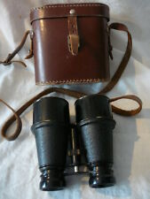 Vintage British Made Binoculars With Leather Case  (A14 07) RL