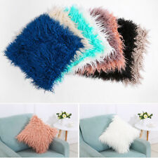 Throw Home Decor Fur Fluffy Sofa Pillow Case Soft Plush Luxury Cushion Covers