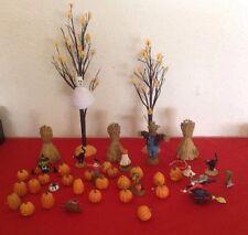 Dept 56 Halloween Accessories 22pc #52704 Nib Snow Village Landscape Set