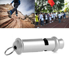 High Decibel Metal Sports Whistle Referee Indoor Outdoor Match Camping Emergency