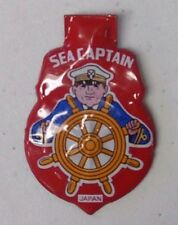 Vintage Tin Litho Clicker SEA CAPTAIN Red Badge Shield Made in Japan