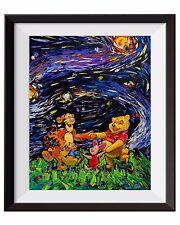 Vincent Van Gogh Starry Night Winnie The Pooh Canvas Art Wall Decor A012