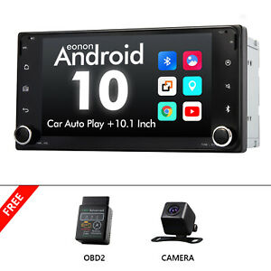 """OBD+CAM+For Toyota Yaris Prius Corolla 7"""" Android 10 Car GPS Stereo Carplay USB"""