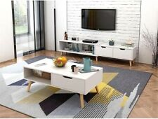 130 - 178 cm TV Stand Entertainment Unit Cabinet with Coffee Table in Two Colors