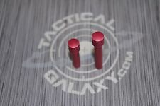 lr308 RED ANODIZED Extended Takedown & pivot Pins Front & Rear 308