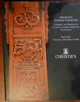 Important Chinese Furniture Christie's 1996 auction catalog beautiful photos