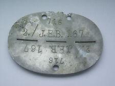 2ww german infantry   dog tag / identity disc   716     2/J.E.B.167