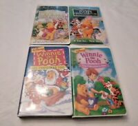 Lot of 4 Disney Winnie the Pooh VHS Tapes