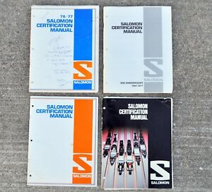 Vtg 1970s Salomon Ski Binding Dealer Technician Certification Manuals Lot of 4