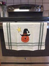 Halloween Pumpkin Dunroven Tea Towel Hand Applique