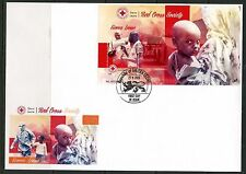 SIERRA LEONE 2015  RED CROSS SOCIETY  SOUVENIR SHEET  FIRST DAY COVER